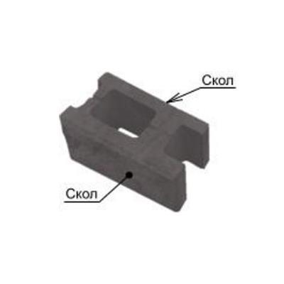 Блок декоративный СКЦ(т)-5Л100кол 1-пустотный колотый с 2-х сторон